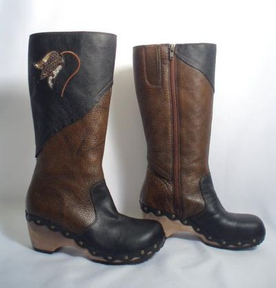 Kenzie brn blk vint clog boots2