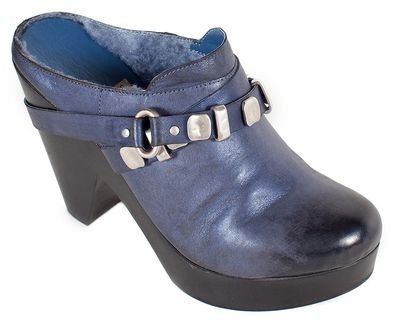 XRAY-Leather-Mule-Clog-Shearling-Blue