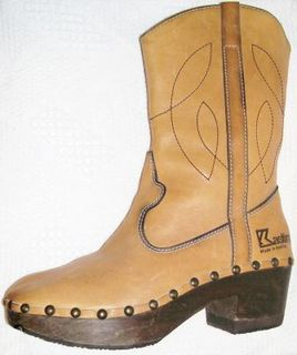 Kastinger tan mens clog boots3