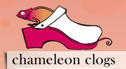 Chameleon clogs logo