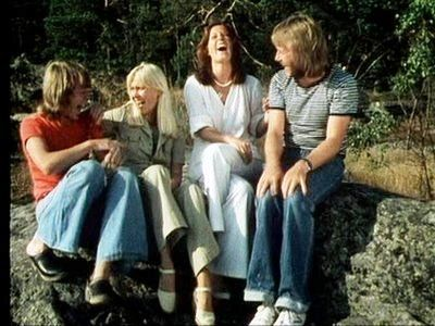 ABBA laughing a lot