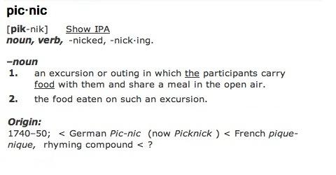 Picnic definition