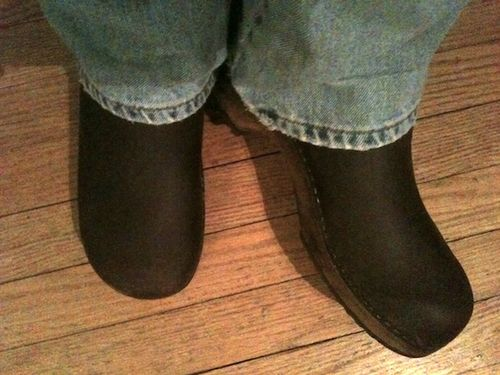 Bob's new clogs