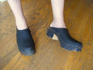 Antique clogs