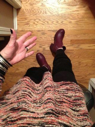 Hunter plum boots