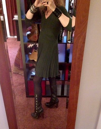 UGG Cosima with green dress