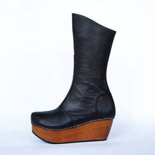 Patten-boot-black