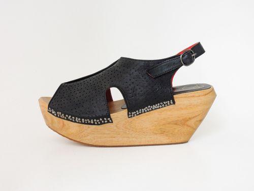 Perforated-clog-black