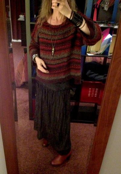 Sorel Medina with new sweater